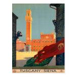 Poster italiano del viaje del vintage de Toscana Postal