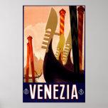 """Poster italiano del viaje del vintage de """"Venecia"""""""