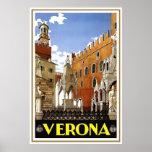 """Poster italiano del viaje del vintage de """"Verona"""""""