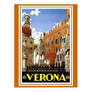 """Poster italiano del viaje del vintage de """"Verona"""" Tarjetas Postales"""