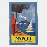 Poster italiano retro del vintage toallas de cocina