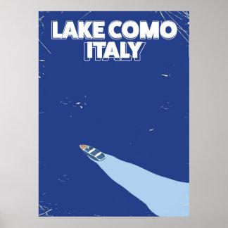 poster itlay del viaje del como del lago