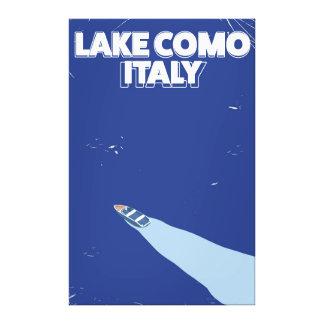 poster itlay del viaje del como del lago impresion de lienzo