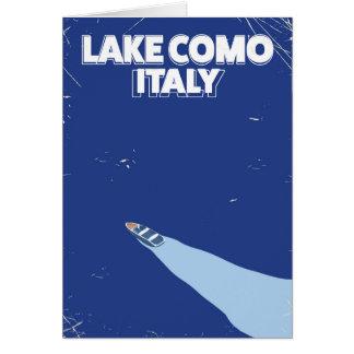 poster itlay del viaje del como del lago tarjeta de felicitación