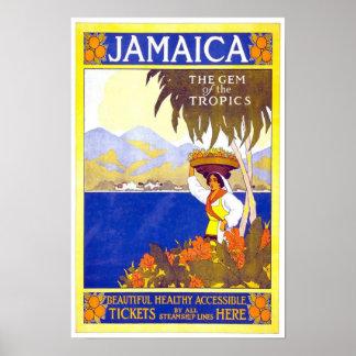 Poster Jamaica del viaje del vintage