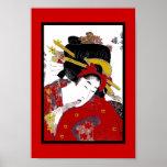 Poster Japanese Japan Modern Geisha Vintage Posters