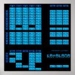 Poster japonés del alfabeto de las katakanas