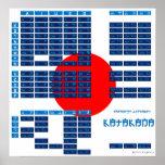 Poster japonés del alfabeto de las katakanas (band