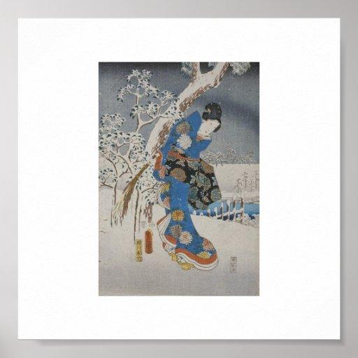 Poster japonés del arte del vintage