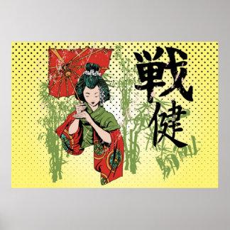 Poster japonés del chica