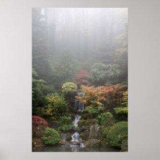 Poster japonés del jardín