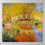 Poster japonés del puente de Monet