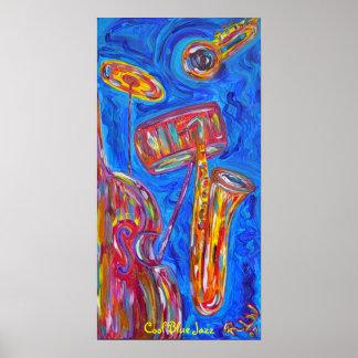 Poster - jazz azul fresco
