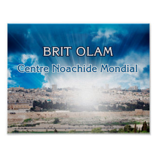 "Poster ""Jerusalem, Brit Olam"""