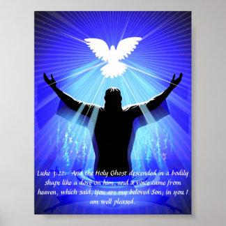 Poster - Jesus & Holy Spirit Like a Dove