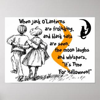 Poster JOL antropomorfo de Halloween del estilo de