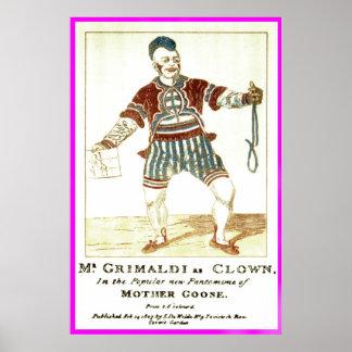 """Poster - José """"Joey"""" Grimaldi Jnr, como 'Clown"""