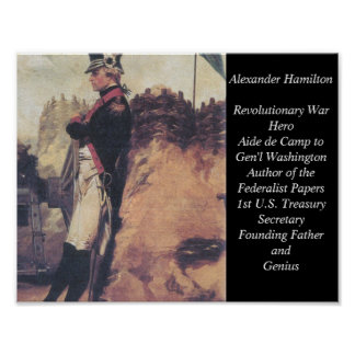 Poster joven de Alexander Hamilton