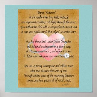 Poster jubilado del arte del poema de la enfermera