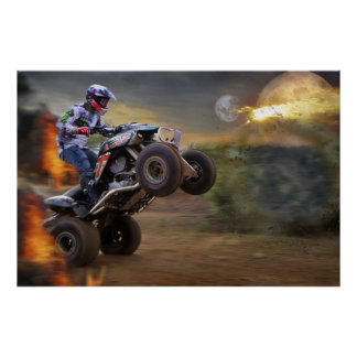 Poster Jump to the Porthole with your Quad Bike