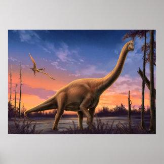 Poster jurásico de los dinosaurios