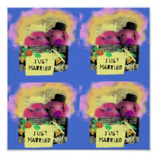 "POSTER ""just married"""