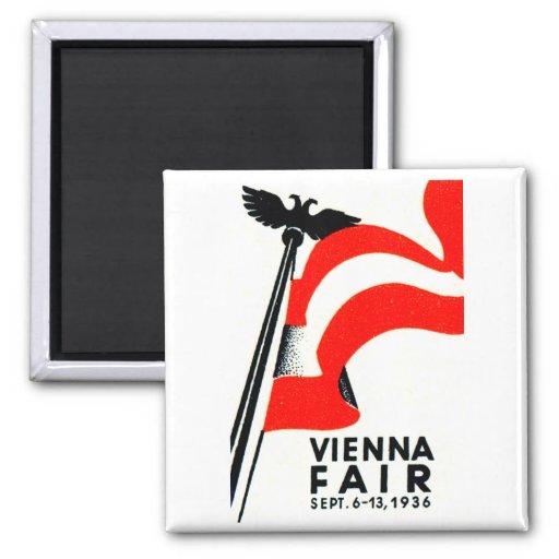 Poster justo 1936 de Viena Imán Cuadrado