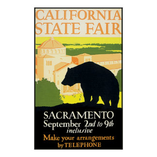 Poster justo del oso del estado de California