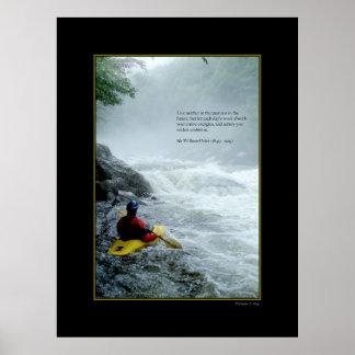 Poster Kayaking de la cita del diente del dragón