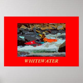 Poster Kayaking de la foto de Whitewater