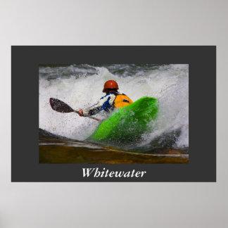 Poster Kayaking de Whitewater