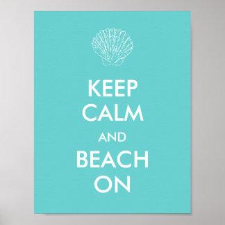 Poster - KEEP CALM BEACH