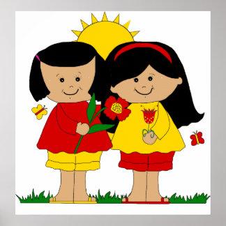 Poster Kid's Two Best Friends Girls