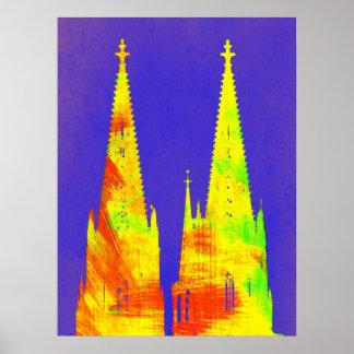 Póster Kunstdruck Fineartprint catedral De Colonia