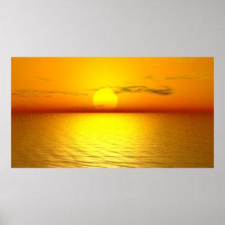 Poster  Kunstdruck  Fineartprint   Sonnenuntergang