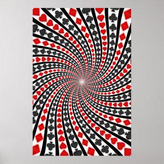 Poster: La tarjeta del póker se adapta a espiral:  Póster