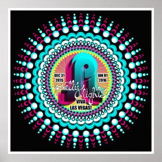 Poster Las Vegas 2015 de NYE de las luces del Póster