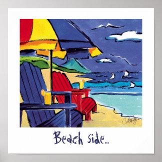 Poster lateral de la playa