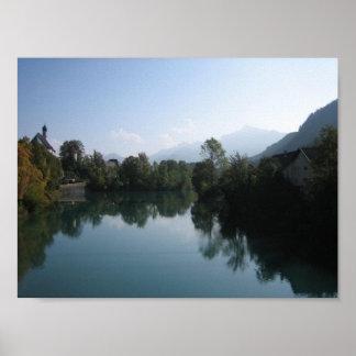 Poster: Lech River at Dawn Bavaria Poster