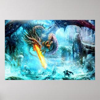 Poster legendario del dragón