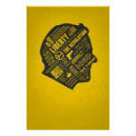 Poster libertario del pensamiento abstracto de Ron