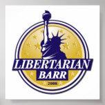 Poster libertario Denver LP del fiesta BARR