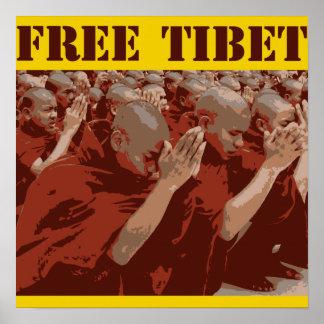 Poster libre de los monjes budistas de Tíbet