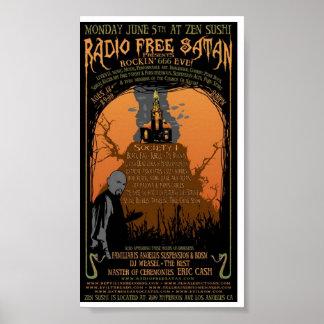 Poster libre de radio de Satan del vintage
