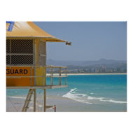 Poster Lifeguard Tower Coolangatta Qld Australia