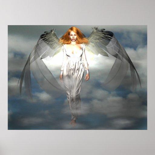 Poster ligero de los ángeles