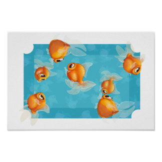 Poster ligero del goldfish