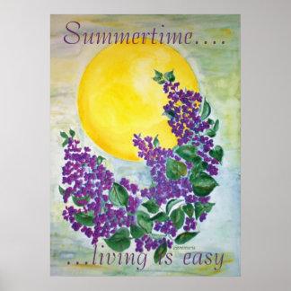 Poster Lilac in Midsummer sun