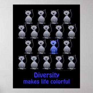 Poster lindo de la diversidad del gato para los ni