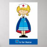 Poster lindo de la enfermera